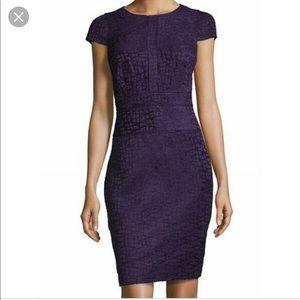 Karl Lagerfeld Paris Textured Stitch Sheath Dress